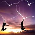 Открытка Два сердца