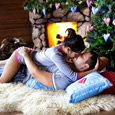 Открытка Новогодний поцелуй