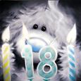 Открытка 18 лет