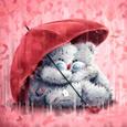 Открытка Дождь из сердечек
